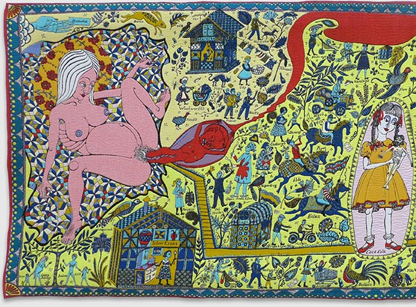 Nude woman tapestry